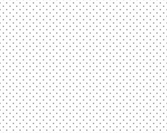 Riley Blake Designs, Swiss Dot Gray on White (C660 40)