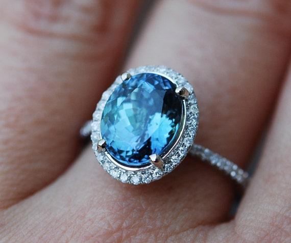 Lavender Tanzanite: Engagement Ring. Tanzanite Ring. Lavender Mint Tanzanite
