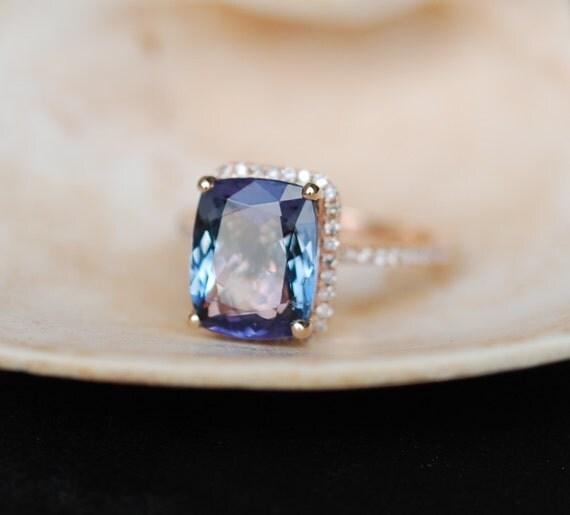 tanzanite ring rose gold engagement ring lavender mint. Black Bedroom Furniture Sets. Home Design Ideas