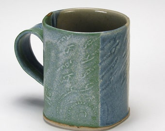 Caribbean  Blues Salvage Textured Mug