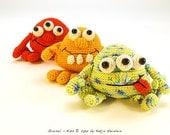 amigurumi PDF crochet pattern Grusel Kids by Katja Heinlein, tutorial fantasy, monster, ebook kids toy stuff file halloween