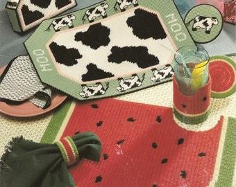 Plastic canvas placemats