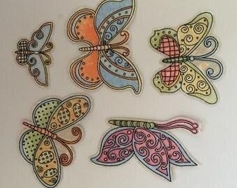 Little Butterflies - Iron On Fabric Appliques