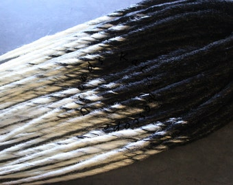 SALE! 10% off! Custom Ombre Transitional Dreads Choose Your Colors and Quantity Synthetic Dreadlock Hair Extensions