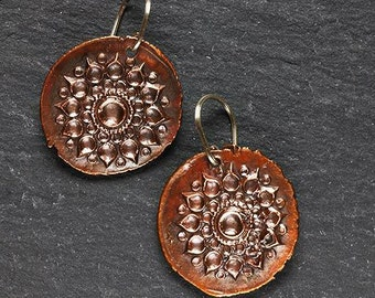 India Earrings in COPPER