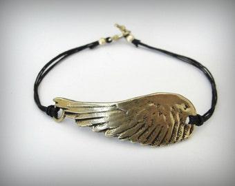 Angel Wing bracelet Flight Bird Wing Bronze Angel Wing Gold Bronze