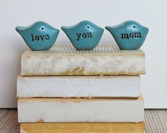 Gifts for mom // love you mom bluebirds // cute small thoughtful rustic gift for your mother