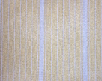 Yellow and White Shades Stripe Pattern Cotton Fat Quarter