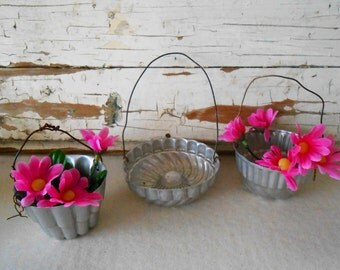 Vintage Aluminum Tart Tin Baskets