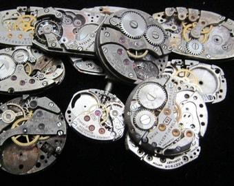 Destash Steampunk Watch Parts Movements Cogs Gears  Assemblage XX 88