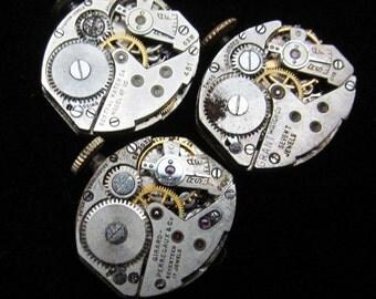 Vintage Watch Movements Parts Steampunk Altered Art Assemblage Q 27