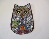 """2 Owls Iron On Appliques 4"""""""