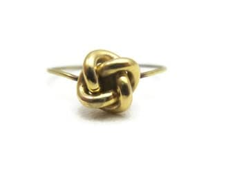 Victorian Gold Knot Ring - 14k Gold, Love Knot, Stick Pin Conversion, Antique Jewelry, Estate Jewelry