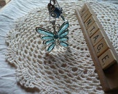Blue Butterfly Car Mirror Charm for Rear View Mirror - Gifts For Her - Personalized Gifts