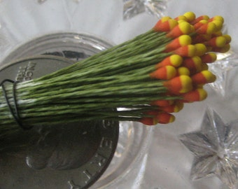 Millinery Flower Stamen Made In Germany Flower Peps Red And Yellow 100 Stems Style 85-39