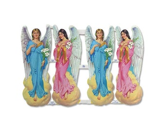 England Paper Lithograph Die Cut Scraps Easter Christmas Angels  797
