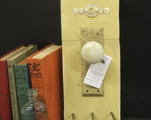 Key Holder Shabby Chic Reclaimed wood with Porcelain doorknob home decor