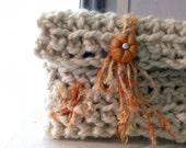 CLUTCH WALLET CHUNKY Crochet White
