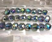 8pcs Beads Glass Beads Chinese Crystal Hexagon shape 15mm Blue Jewelry Jewellery Craft Supplies