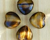 Tiger Eye Gemstone Heart
