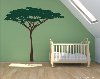 Acacia Jungle Safari Tree wall decal - wall mural theme