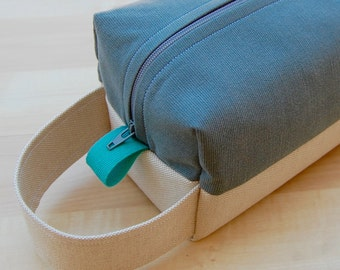 Upcycled Grey Corduroy Lg CA Roll (toiletries or carry-all bag)