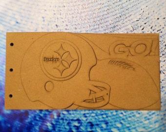Football Scrapbook - Pittsburgh Steelers Team Spirit - custom scrapbook chipboard album BLANK 6pg