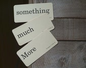 Vintage Flash Cards, Something Much More, Words, Text, Wall Art, Home and Living, Art Supplies, Ephemera