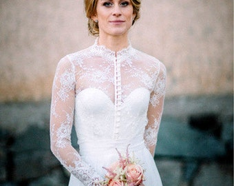 Royal Elegance bridal lace top white lace blouse bridal bolero jacket wedding bolero