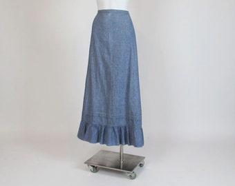 1910s skirt / Indigo Lady Vintage Boho Prairie 1910s Skirt