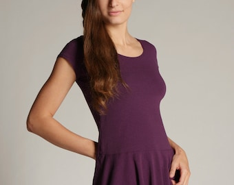 Bamboo and Organic Cotton Rhea Peplum Top