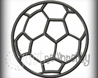 Soccerball Embroidery Applique Design