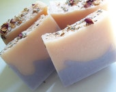 Organic Soap Rose Lavender Soap- Bath and Beauty - Coconut Milk Bar Soap