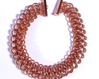 Copper Chainmaille Arkham Bracelet