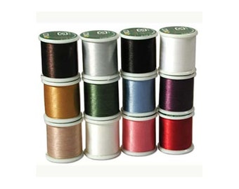 K.O. Beading Thread, Japanese Beading Thread  43338 12 Spool Thread Assortment, KO Beading Thread, Size B Beading Thread, Pre-Waxed Thread