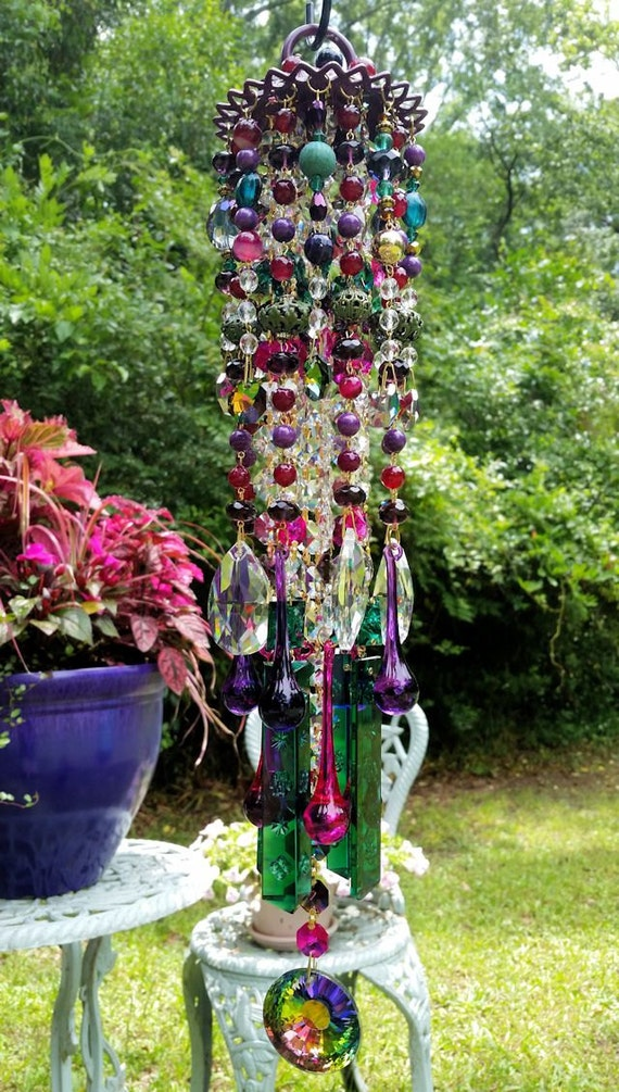 Boho Chic Crystal Magic Wind Chime by sheriscrystals on Etsy -   Bohemian Wind Chime