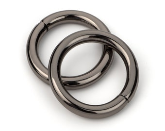 "50pcs - 5/8"" Metal O Rings Non Welded Black Nickel - Free Shipping (O-RING ORG-156)"