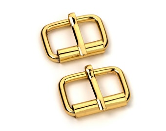"""30pcs - 1"""" Roller Pin Belt Buckles - Gold - Free Shipping (ROLLER BUCKLE RBK-113)"""