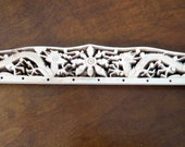 Vintage Bone Purse Handles 1920's Dragon Hand Carved Pair - NOS