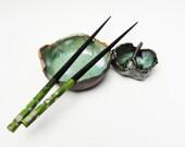 Primitive Salt Pig with Spoon, Rustic Small Wrinkled Pottery Bowl. Hobbit Tableware, Salt Cellar, Green Dark Brown, Dragon Egg Fragment