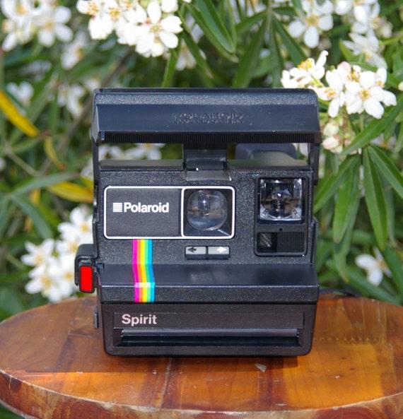 vintage polaroid spirit instant film camera for 600 film. Black Bedroom Furniture Sets. Home Design Ideas
