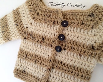 ON SALE...Newborn Sweater.. Long sleeve baby sweater.. Sweater coat.. Ready to ship
