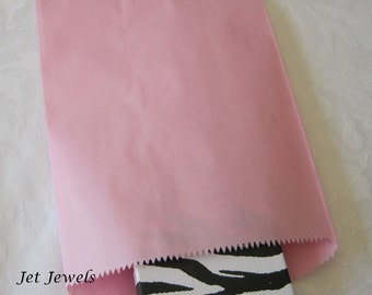 25 Paper Bags, Gift Bags, Pink Paper Bags, Light Pink, Kraft Bags,  Candy Bags, Merchandise Bags, Retail Bags, Party Favor Bags 6x9