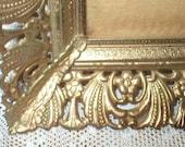 Vintage Picture Frame Gold Tone Metal Ormolu Filigree 9X11