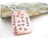 Pet Tag - Jar Full of Love - Custom Hand Stamped Copper