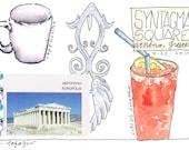 Syntagma Square ~ original watercolor