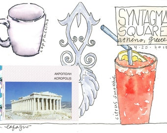 Syntagma Square ~ original watercolor