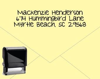 FREE US SHIPPING * Self Inking Return Address Stamp * Custom Address Rubber Stamp (E116)