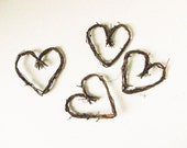 "4"" Grapevine Twig Hearts, Wedding Decorations, Wreaths, Scrapbooking,Card Making,Art Projects"
