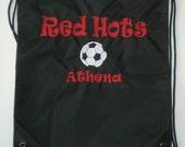 12 Personalized Cinch Sack Athletic Bags Soccer, Cheer, Baseball, Football, Basketball